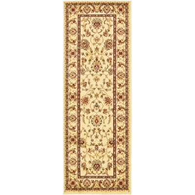 Fairmount Cream Area Rug Rug Size: Runner 22 x 6
