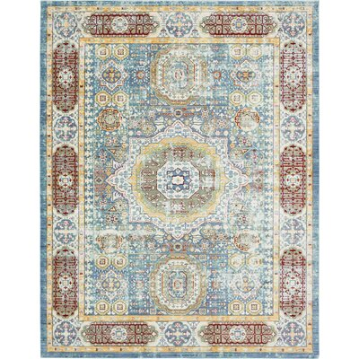 Laurelwood Blue / Red Area Rug Rug Size: Rectangle 5 x 8