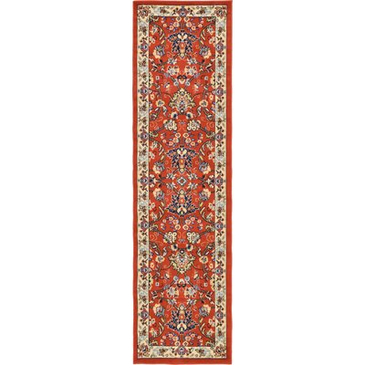 Concord Terracotta Area Rug Rug Size: 2 x 8