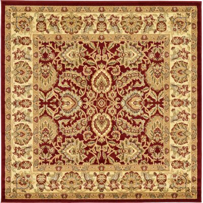 Fairmount Traditional Red Oriental Area Rug Rug Size: Rectangle 6 x 6