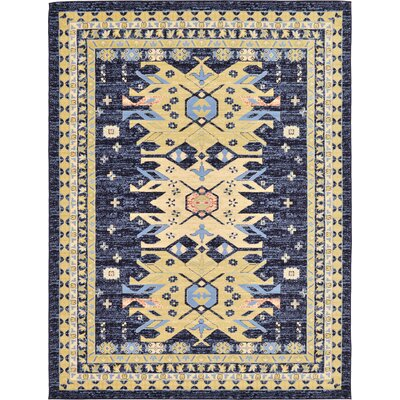 Valley Navy Blue Area Rug Rug Size: 9 x 12
