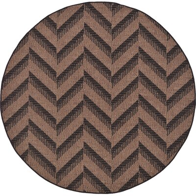 Jordan Brown Outdoor Area Rug Rug Size: Round 6