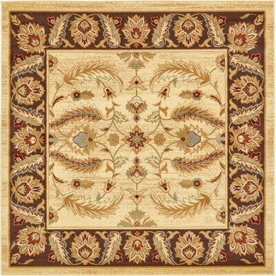 Fairmount Cream Area Rug Rug Size: Square 6