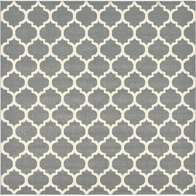 Moore Gray Area Rug Rug Size: Square 10