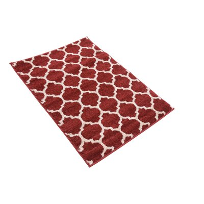Moore Red Area Rug Rug Size: Rectangle 22 x 3
