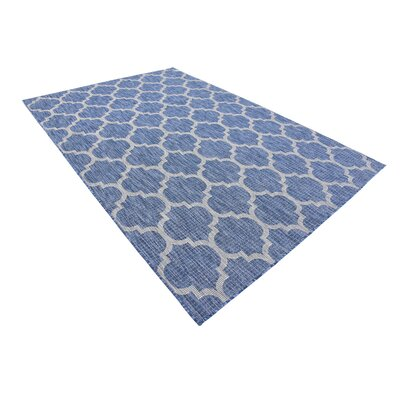 Harding Blue Outdoor Area Rug Rug Size: Rectangle 6 x 9