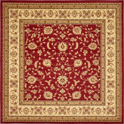 Niles Red/Cream Area Rug Rug Size: Square 10
