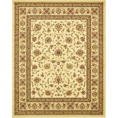 Niles Cream/Brown Area Rug Rug Size: 8 x 10