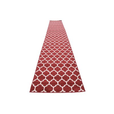 Moore Red Area Rug Rug Size: Runner 27 x 165