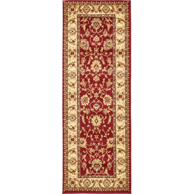 Niles Red/Cream Area Rug Rug Size: Runner 22 x 6