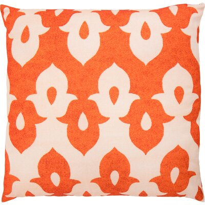 Throw Pillow Color: Green/Peach