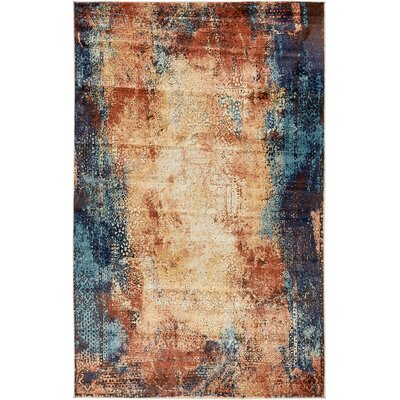 Jani Brick Red Area Rug Rug Size: Rectangle 9 x 12