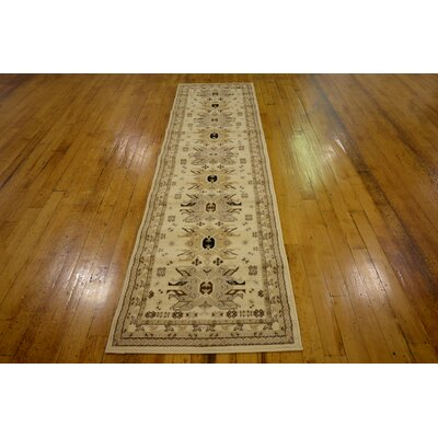 Valley Ivory/Beige Area Rug Rug Size: Runner 27 x 10
