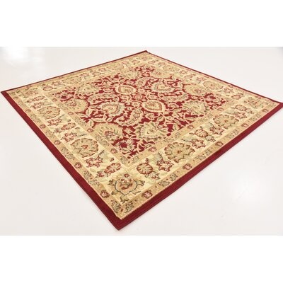 Fairmount Traditional Red Oriental Area Rug Rug Size: Rectangle 7 x 10