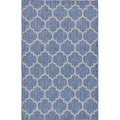 Harding Blue Outdoor Area Rug Rug Size: 5 x 8