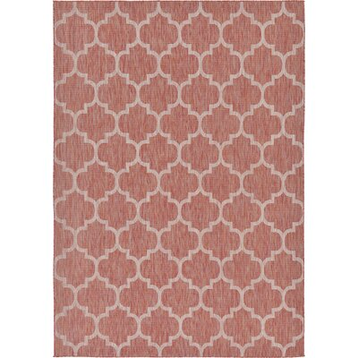 Tandridge Rust Outdoor Red Area Rug Rug Size: 7 x 10