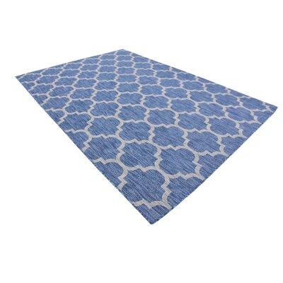 Harding Blue Outdoor Area Rug Rug Size: Rectangle 7 x 10