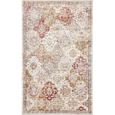 Lynda Beige Area Rug Rug Size: Rectangle 33 x 53