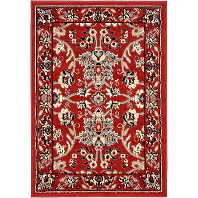Concord Red Area Rug Rug Size: 22 x 3