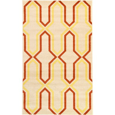 Marika Cream Area Rug Rug Size: Rectangle 22 x 3
