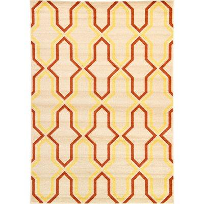 Marika Cream Area Rug Rug Size: Rectangle 7 x 10