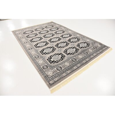 Ivette Gray Area Rug Rug Size: 6 x 9