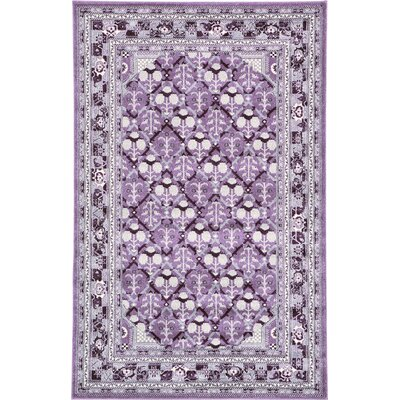 Lisbon Purple Area Rug Rug Size: Rectangle 5 x 8