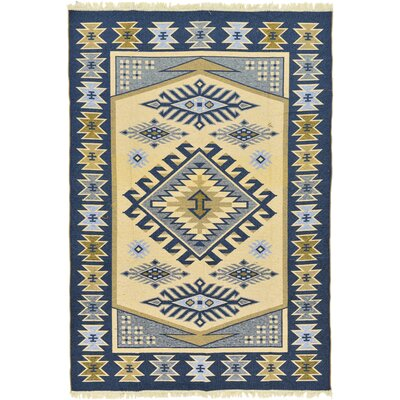 Izidora Traditional Rectangle Cream Area Rug Rug Size: 66 x 94