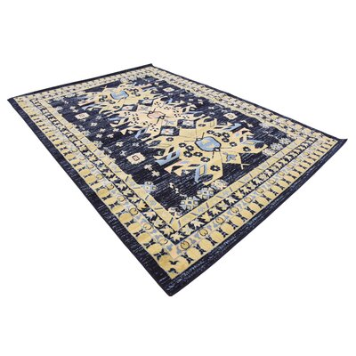 Valley Navy Blue Area Rug Rug Size: Rectangle 7' x 10'