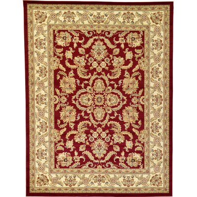 Fairmount Red Area Rug Rug Size: 9 x 12