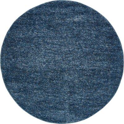 St Philips Marsh Blue Area Rug Rug Size: Round 6