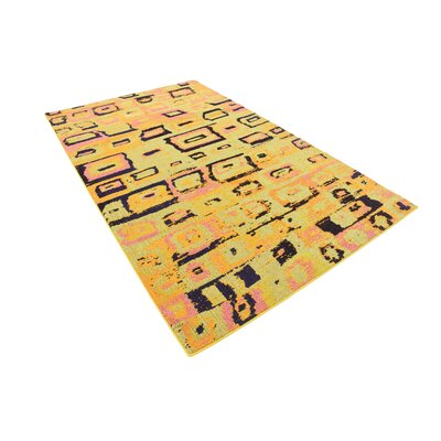 Sutton Place Yellow Area Rug Rug Size: 5 x 8