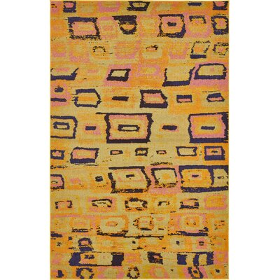 Sutton Place Yellow Area Rug Rug Size: 6 x 9