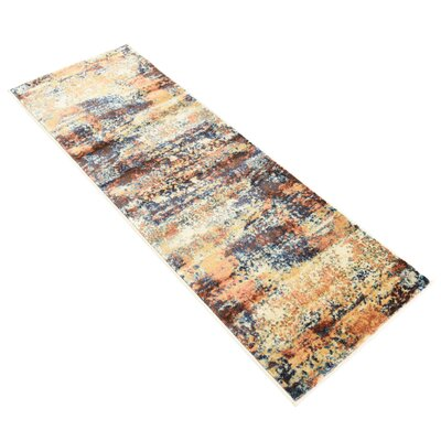 Jani Beige/Brown Abstract Area Rug Rug Size: Runner 2 x 6