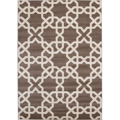 Moore Light Brown Area Rug Rug Size: Rectangle 7 x 10