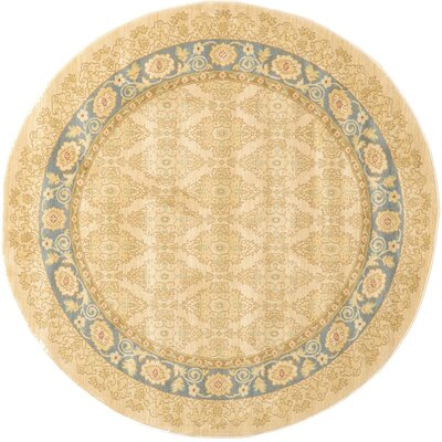 Fonciere Cream Area Rug Rug Size: Round 6