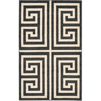 Ellery Black/Beige Area Rug Rug Size: Rectangle 33 x 53