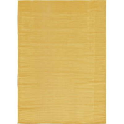 Risley Gold Area Rug Rug Size: 7 x 10