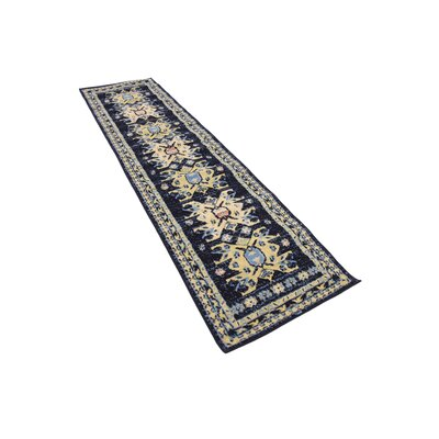 Valley Navy Blue Area Rug Rug Size: Runner 3 x 165