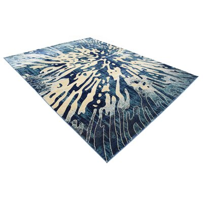 Jani Rectangle Beige/Blue Area Rug Rug Size: 9 x 12