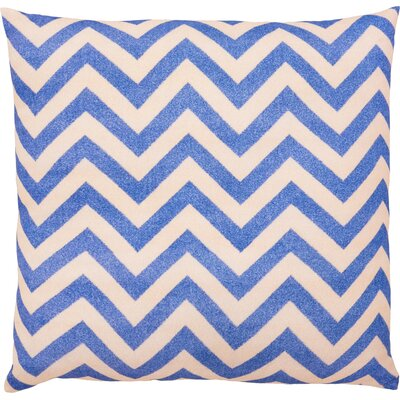 Lily Throw Pillow Color: Blue/Peach