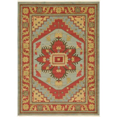 Jana Red Oriental Area Rug Rug Size: 8