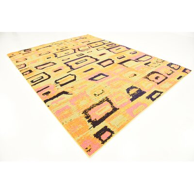 Sutton Place Yellow Area Rug Rug Size: 8 x 10