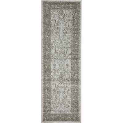 Imperial Gray & Green Area Rug Rug Size: Runner 2 x 6