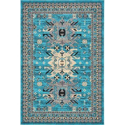 Sina Turquoise Area Rug Rug Size: Rectangle 6 x 9