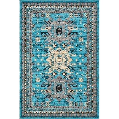 Sina Turquoise Area Rug Rug Size: 6 x 9