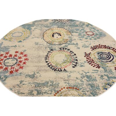 Killington Blue Area Rug Rug Size: Round 6
