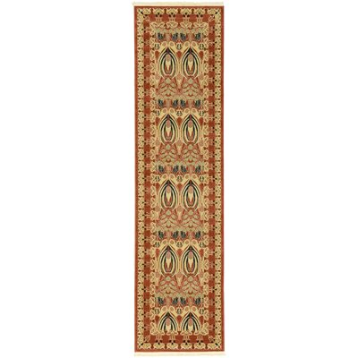 Sebou Rust Red Area Rug Rug Size: Runner 27 x 10