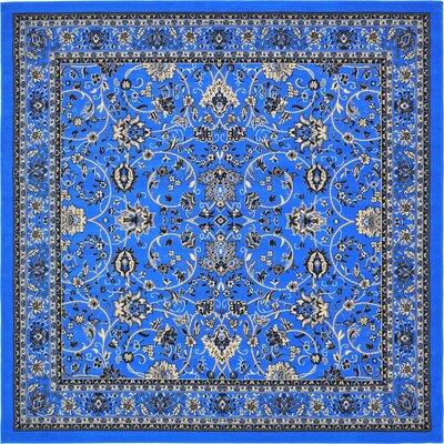 Jeanelle Dark Blue Area Rug Rug Size: Square 8