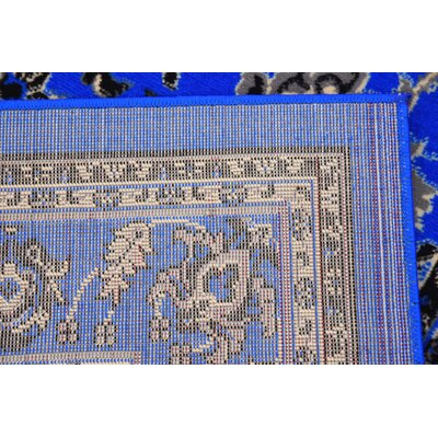 Jeanelle Dark Blue Area Rug Rug Size: Rectangle 6 x 9